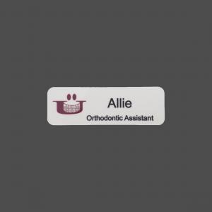 """1"""" x 3"""" 4-Color Process White Namebadge"""