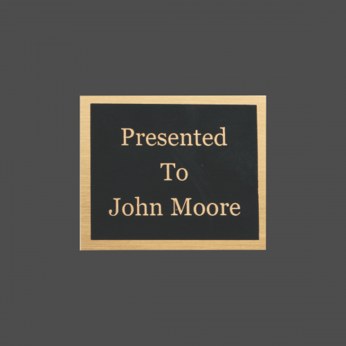 "2 7/8"" x 3"" Rectangle Black Brass Metal Name Tag"