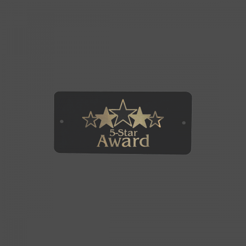 """1 1/2"""" x  3"""" Rounded Corners Rectangle Black Brass Metal Name Tag"""