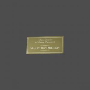 "1 1/2"" x 3"" Aluminum Gold Tone-on-Tone Engraved Tag"