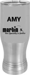 MA6110 - Stainless Steel pilsner 20 oz polar camel tumbler cup personalized
