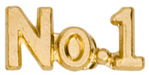 No. 1 Lapel Pin