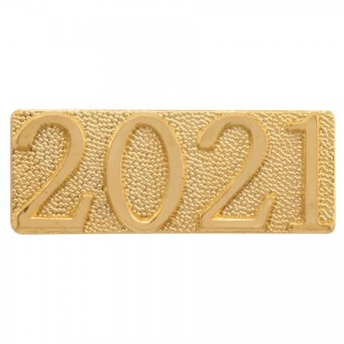 Gold 2021 Metal Chenille Letter Insignia