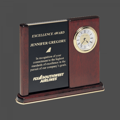 Rosewood Upright Clock