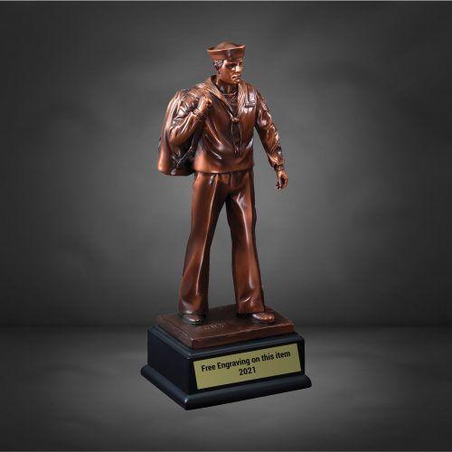 US Navy Bronze Male Trophy