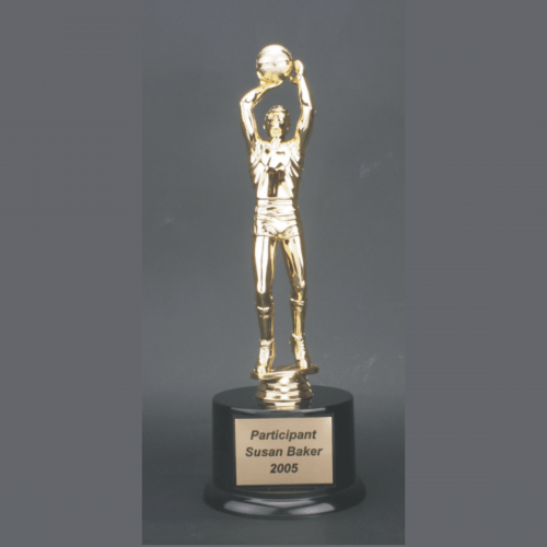 """11"""" Male Basketball Gold Plastic Trophy"""