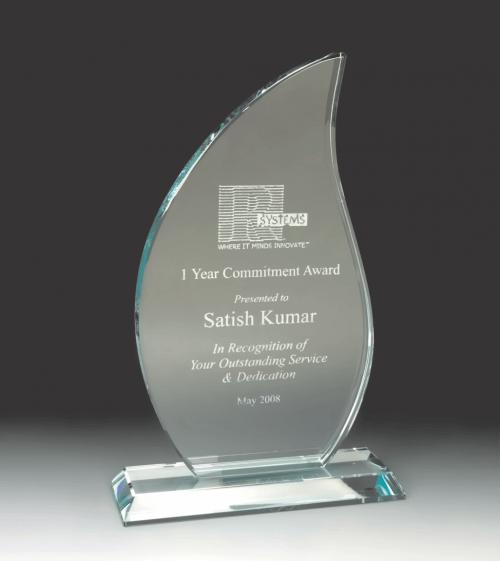 Flame Jade Glass Award