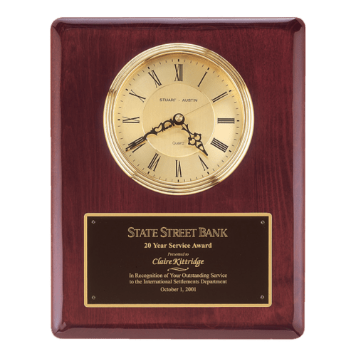 """13"""" Rosewood Piano-Finish Clock with 3 hand movement (1 Day Rush)"""
