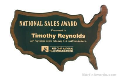 USA Shaped Plaque