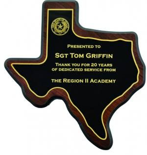 Texas State Shaped Plaque