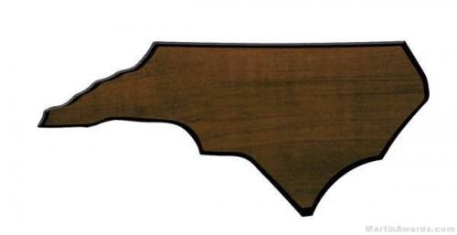 North Carolina State Shaped Plaque