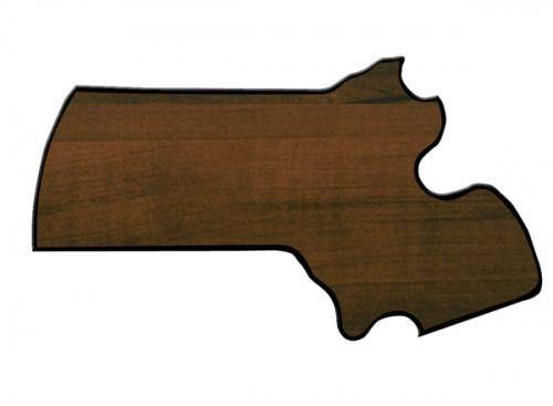 Massachusetts State Shaped Plaque