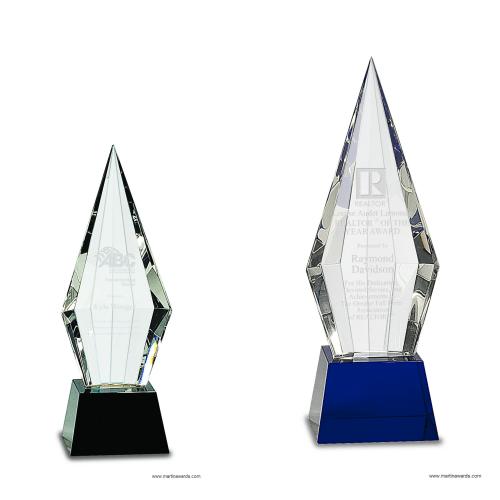 Obelisk Facet Crystal Award