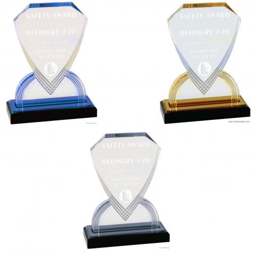 Shield Carved Impress Acrylic Awards