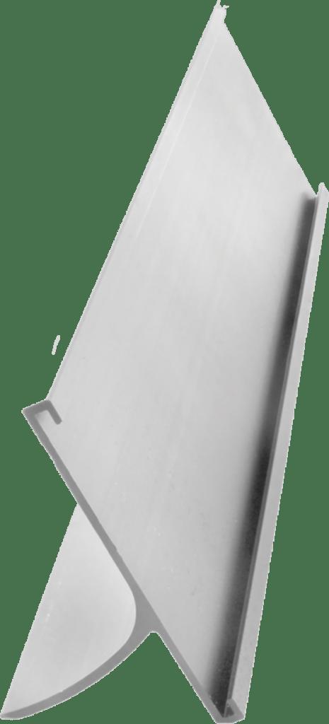 Silver 2 inch aluminum desk holder