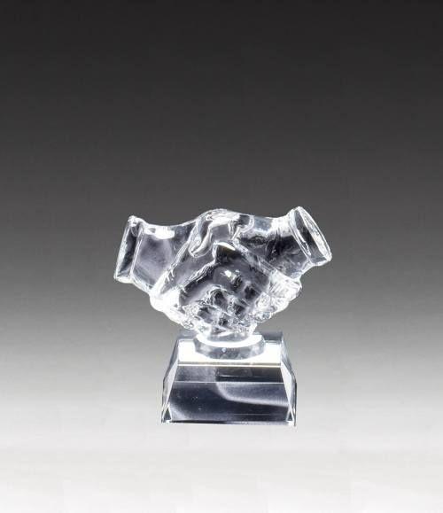 Crystal Hand Shake Award
