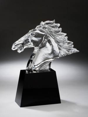 Horse Head Crystal Award