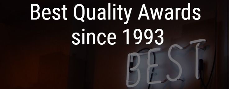 Best Quality Awards since 1993