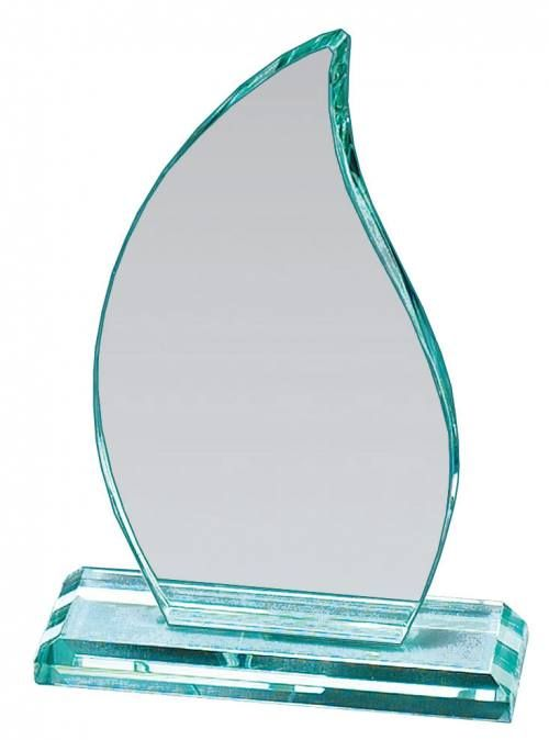 MAD1150TGL Flame Jade Glass Award with Base