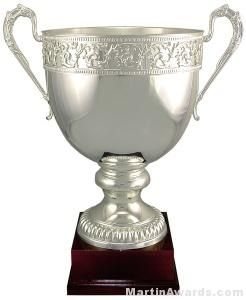 Cherubs and Cupids Silver Trophy Cup
