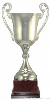 """15-1/4""""  ARG 1000 Silver Plated Trophy Cup"""