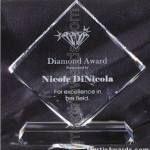 Transparent Diamond Crystal Award