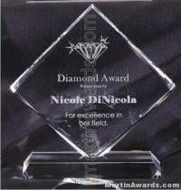 Transparent Diamond Crystal Award