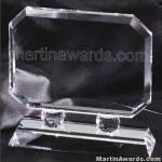 Crystal Glass Awards – 7″ x 7″ Prism Optical 1