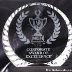 Freestanding Wreath Crystal Award