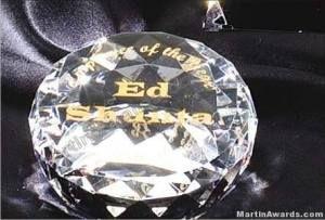 "Crystal Faceted Diamond"" Genuine Prism Optical Crystal Diamond"