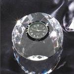 Circular Prism Crystal Clock