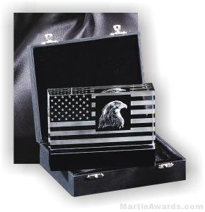 Genuine Crystal Patriot Design With Black Base
