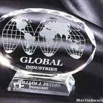 Oval Genuine Crystal Glass Award