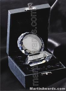 "Circular Crystal Glass Award "" Prism Optical Crystal"