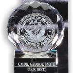 Crystal Glass Awards – 4″ x 5″ Genuine Prism Optical Crystal With Base 1