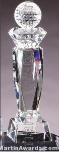 Disco Turret Crystal Glass Award