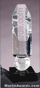 Octagon Globe Crystal Award