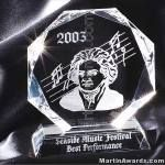 Mozart Octagon Crystal Award