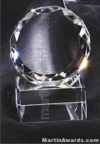 "3 1/2"" x 4"" Genuine Prism Optical Crystal Glass Awards"