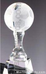 Soccerball Crystal Glass