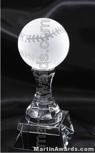 "3"" x 8"" Baseball Prism Optical Crystal Glass"