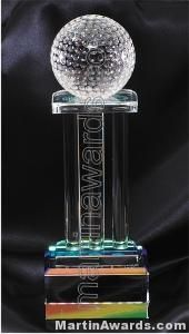 "4"" x 2 3/4"" x 11 1/2"" Prismatic Golf Prism Optical Crystal Glass"
