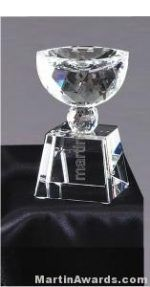 """2 1/2"""" x 5 1/2"""" Prism Optical Crystal Glass"""