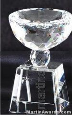 """2 1/4"""" x 4 1/2"""" Prism Optical Crystal Glass"""