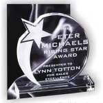 Rising Star Round Crystal Award