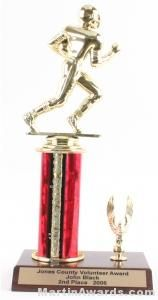 Red Single Column Football With 1 Eagle Trophy
