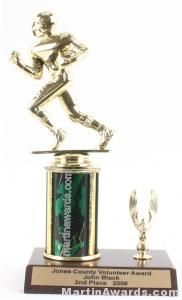 Green Single Column Football With 1 Eagle Trophy