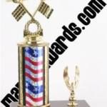 Red/White/Blue Single Column Pinewood Derby Car With 1 Eagle Trophy 1