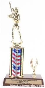 Red/White/Blue Single Column Female Softball With 1 Eagle Trophy