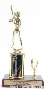 Black Single Column Female Softball With 1 Eagle Trophy
